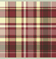 brown check plaid seamless pixel fabric texture vector image vector image