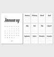 calendar planner for 2019 year vector image