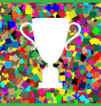 champions cup sign white icon on colorful vector image