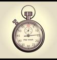 Classic retro stopwatch vector image