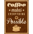 Coffee time - typography vintage background vector image