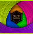 colorful layers background with hexagonal black