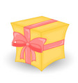 colorful wrapped gift boxbeautiful christmas and vector image vector image