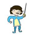 comic cartoon man with sword vector image vector image