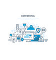 confidential information protection of data vector image vector image