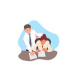 contract signing agreement office paperwork vector image