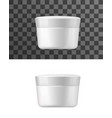 cream jar white tube isolated mockup vector image