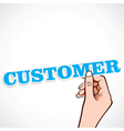 customer word in hand vector image vector image