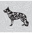 Dog is my best friend Motivational handwritten vector image vector image