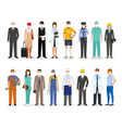 employee and workers characters together wearing vector image vector image