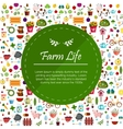 Farm flat banners depicting life in countryside vector image vector image