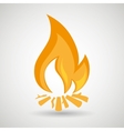 fire flame design vector image vector image