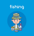 fishing sport cartoon vector image
