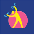 Fitness Sign - Logo Symbol - Sport Activity vector image vector image