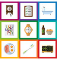 flat icon oneday set of beer with chips electric vector image vector image