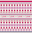 geometric cute pattern with inscription love vector image vector image