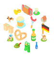 germany icons set isometric 3d style vector image vector image