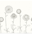 Hand drawn Sunflower Floral background vector image vector image