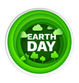 happy earth day flat card or background paper vector image