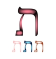 Hebrew font The Hebrew language The letter Tav vector image