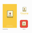 holy bible company logo app icon and splash page vector image