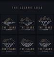 island line logo vector image