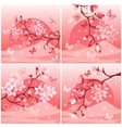 Japanese cherry tree set vector image vector image