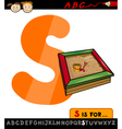 letter s with sandbox cartoon vector image vector image