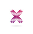 Letter X number 10 logo icon design template vector image vector image