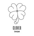 line style icon a clover medical charity logo vector image