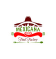 mexicana food factory icon vector image