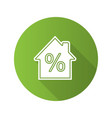 mortgage interest rate flat design long shadow vector image vector image