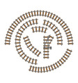 railway parts grey rails vector image vector image