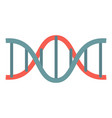 red blue dna icon flat style vector image vector image