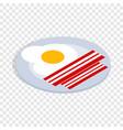 scrambled eggs isometric icon vector image vector image