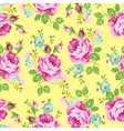 Seamless floral pattern with pink roses on a dark vector image vector image