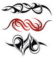 Set of 3 different tribal tattoo vector image vector image