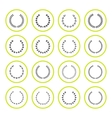 set round icons laurel wreath and modern frames vector image