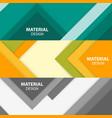 set three horizontal material design banners vector image vector image