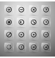 set web icons vector image