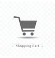shopping cart icon on transparent vector image