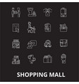 shopping mall editable line icons set on vector image vector image