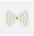 simple green icon - sound or vibration symbol vector image