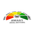 smart goal setting in the vector image vector image