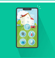 smart home on cell phone flat vector image