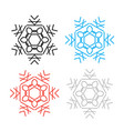 snowflake thin line icon collection vector image vector image