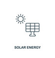 solar energy icon outline style premium pictograph vector image vector image
