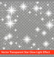 star glow sparkling light effect isolated over vector image vector image
