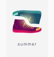 summer colorful gumshoes vintage poster vector image vector image