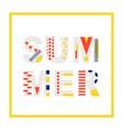 summer modern banner design element vector image vector image